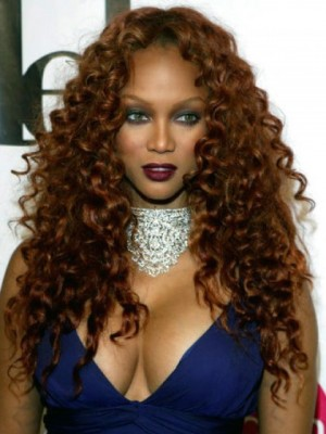 Tyra Banks Fashionable Lace Front Curly Synthetic Wig