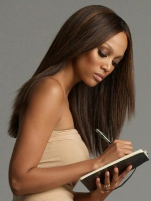 Tyra Banks Charming Straight Lace Front Human Hair Wig