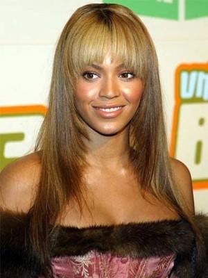 Beyonce Long Straight Human Hair Celebrity Wig