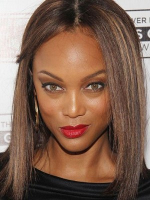 Tyra Banks Wonderful Straight Lace Front Human Hair Wig
