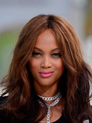 Tyra Banks Pleasant Wavy Lace Front Human Hair Wig