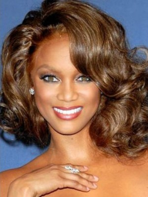 Tyra Banks Magnificent Wavy Lace Front Synthetic Wig