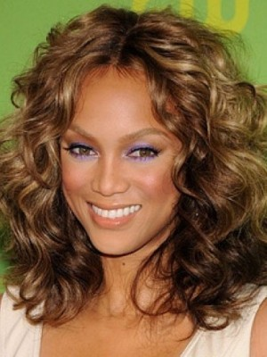 Tyra Banks Stupendous Wavy Human Hair Lace Front Wig