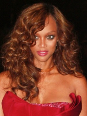 Tyra Banks Modern Wavy Lace Front Synthetic Wig