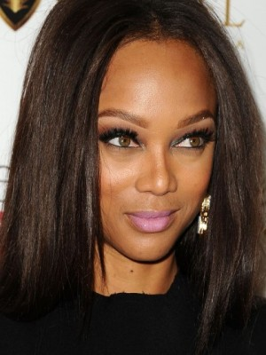 Tyra Banks Gorgeous Straight Lace Front Synthetic Wig