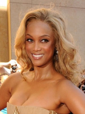 Tyra Banks Natural Lace Front Wavy Synthetic Wig