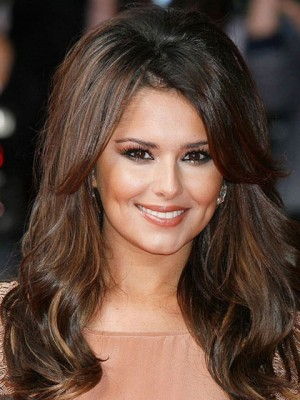 Cheryl Cole Human Hair Lace Wavy Celebrity Wig