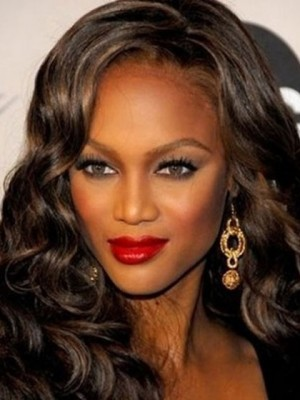 Tyra Banks Seductive Wavy Lace Front Synthetic Wig