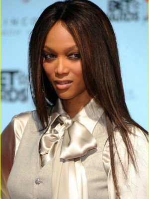 Tyra Banks Glamorous Straight Lace Front Synthetic Wig