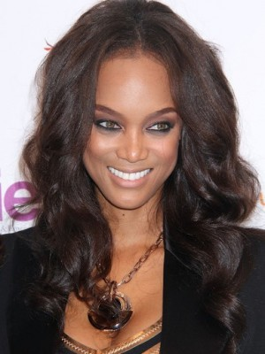 Tyra Banks Charming Wavy Lace Front Synthetic Wig