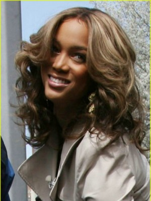 Tyra Banks Durable Wavy Lace Front Synthetic Wig