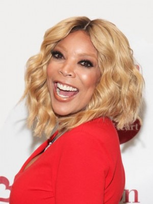 Elegant Wendy Williams Wavy Remy Human Hair Lace Front Wig