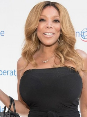 Fashionable Wendy Williams Wavy Remy Human Hair Lace Front Wig