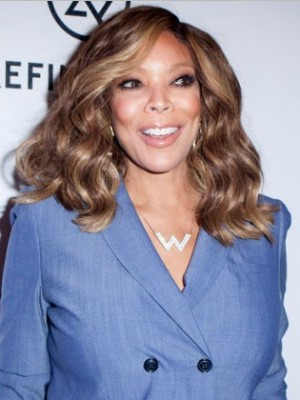 Charming Wendy Williams Wavy Remy Human Hair Lace Front Wig