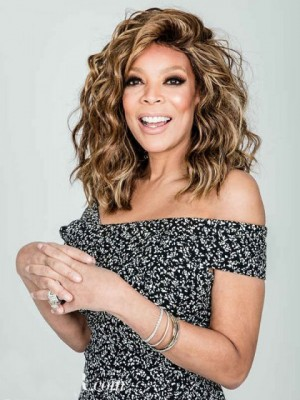 Good Looking Wendy Williams Wavy Remy Human Hair Lace Front Wig