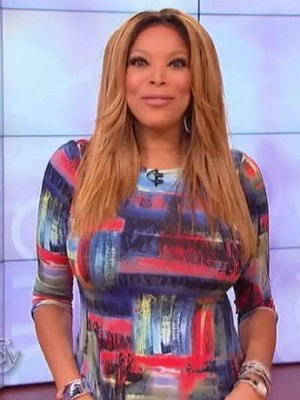Striking Wendy Williams Straight Remy Human Hair Lace Front Wig