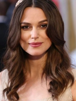 Impressive Keira Knightley Wavy Lace Front Remy Human Hair Wig