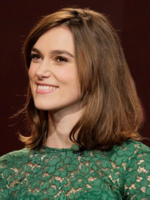 Pretty Keira Knightley Straight Lace Front Remy Human Hair Wig