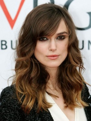 Fabulous Keira Knightley Wavy Lace Front Remy Human Hair Wig