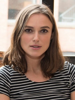 Stunning Keira Knightley Straight Lace Front Remy Human Hair Wig