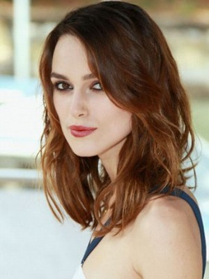 Beautiful Keira Knightley Wavy Lace Front Remy Human Hair Wig