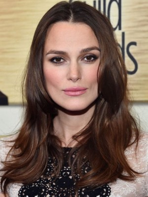 Classic Keira Knightley Wavy Lace Front Remy Human Hair Wig