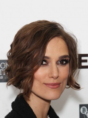 Nice Keira Knightley Wavy Lace Front Remy Human Hair Wig
