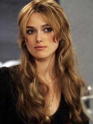 Luxury Keira Knightley Wavy Lace Front Remy Human Hair Wig