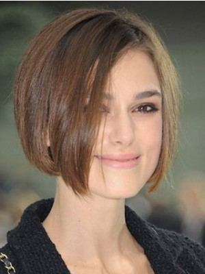 Fine Keira Knightley Straight Lace Front Synthetic Wig