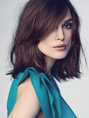 Bonny Keira Knightley Wavy Lace Front Synthetic Wig