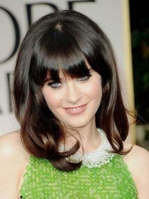 Zooey Deschanel's New Hairstyle Celebrity Wig