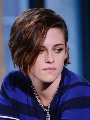 Top Quality Kristen Stewart Wavy Lace Front Synthetic Wig