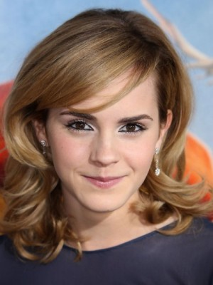 Affordable Emma Watson Wavy Lace Front Synthetic Wig
