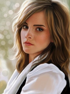 Elegant Emma Watson Wavy Lace Front Synthetic Wig