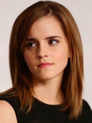 Natural Emma Watson Straight Lace Front Synthetic Wig