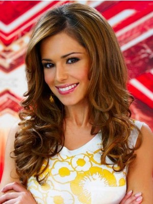 Chic Cheryl Cole Long Human Hair Celebrity Wig