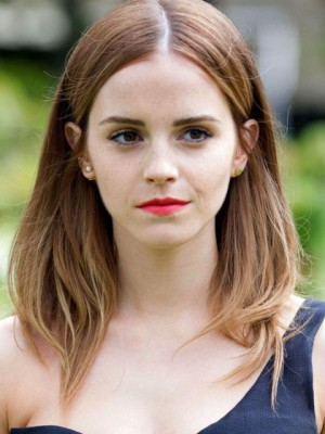 Popular Emma Watson Straight Lace Front Remy Human Hair Wig