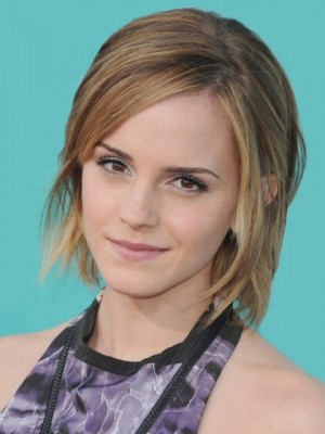Pretty Emma Watson Straight Lace Front Remy Human Hair Wig