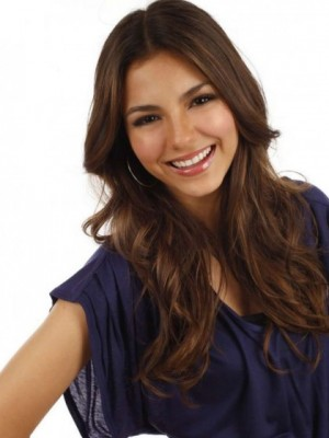 Perfect Victoria Justice Wavy Lace Front Remy Human Hair Wig
