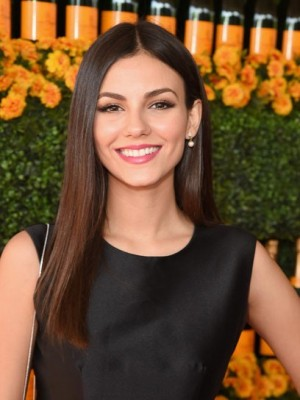 Concise Victoria Justice Straight Lace Front Synthetic Wig