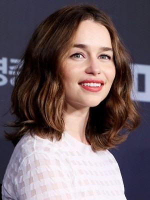 Marvelous Emilia Clarke Wavy Lace Front Remy Human Hair Wig