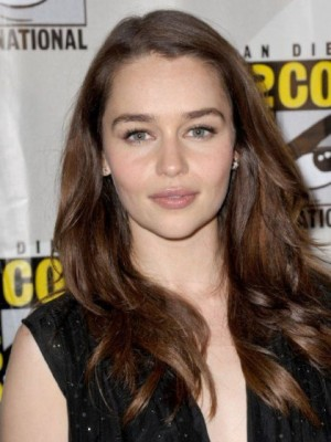 Comfortable Emilia Clarke Wavy Lace Front Synthetic Wig