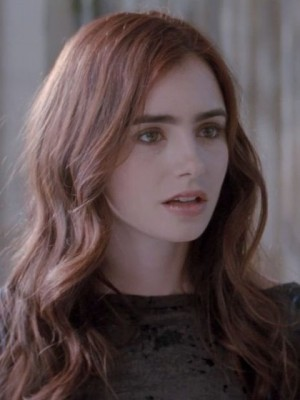 Silky Lily Collins Wavy Lace Front Remy Human Hair Wig