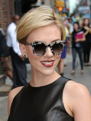 Perfect Scarlett Johansson Straight Lace Front Remy Human Hair Wig