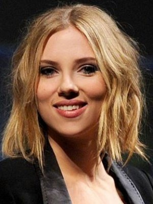 Striking Scarlett Johansson Wavy Lace Front Synthetic Wig