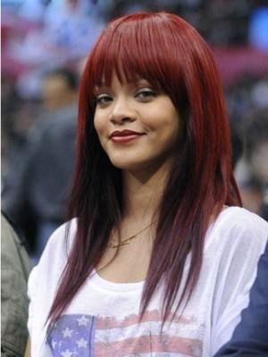 Rihanna Long Straight Remy Human Hair Celebrity Wig