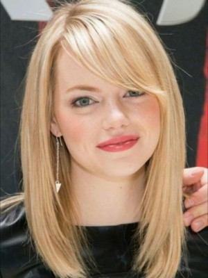 Emma Stone Marvelous Lace Front Straight Remy Human Hair Wig