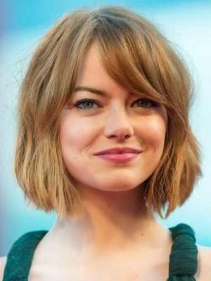 Emma Stone Prodigious Remy Human Hair Straight Capless Wig