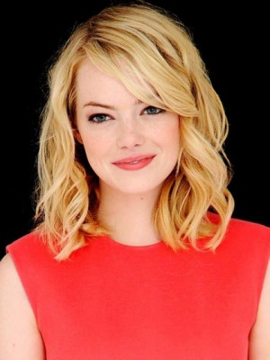 Emma Stone Magnificent Lace Front Wavy Remy Human Hair Wig