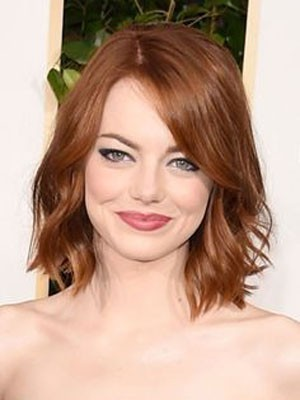 Emma Stone Stupendous Wavy Lace Front Synthetic Wig